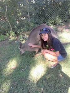 kwan with kangaroo